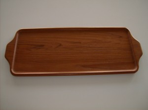 Beautiful solid teak tray designed by Karl Holmberg made in Sweden - (SOLD)