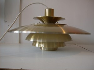 Killer vintage pendant light designed by Sven Middleboe in the 1960&#039;s - Denmark - excellent condition - a steal for $295