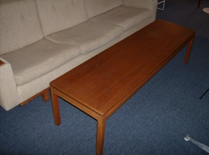 "Super long and super sleek 1960's teak coffee table - Measures - 66"" length X 19""width X 17"" height - (SOLD)"