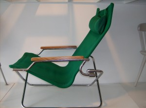Incredibly cool and comfortable designer lounge chair -Made in Japan in 1973 and designed by Uchida - another great feature of this chair is that is collapses for easy storage if need be - (SOLD)