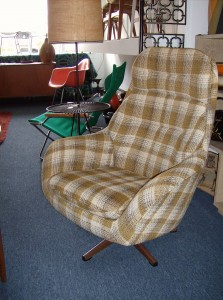 Groovy lounge chair made in the 60's by Swedfurn in Sweden -  super comfortable/tilt and swivels - perfect - (SOLD)