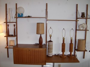 Fantastic Mid-century modern teak cado wall unit with a minimalist look - perfect for the Mid-century modern inspired home - (SOLD)