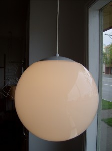"Super Fab large globe pendant light - measures around 13""-14"" diameter - (SOLD)"