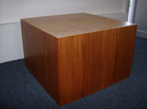 "Incredible 1960's teak/cork end tables and or coffee table by R.S. Associates - Montreal Canada - 2 available - they are both in really fantastic condition - they measure - 2ftX2ftX16""high - Both SOLD"