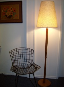 1960&#039;s teak floor lamp - super sleek - super modern - perfect for any Mid-century modern home - (SOLD)