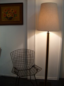 Very Handsome 1960&#039;s teak and iron floor lamp - fantastic design - this lamp would look great in any Mid-century modern home - (SOLD)