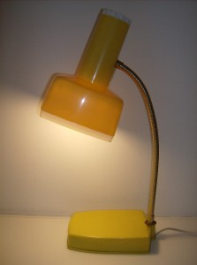 Super fly vintage plastic desk lamp by Gilbert Co - Canada - this company made some pretty interesting lamps - (SOLD)