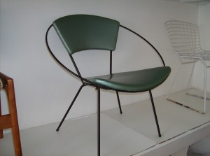 Original Canadian Hoop chair by John Hauser for Ironworks - 1955 - the upholstery has been redone in recent past - (SOLD)