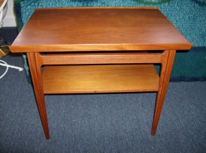 Spectacular Mid-century modern teak 2 tier end table by Iconic designer - Finn Juhl for France and Son - (SOLD)