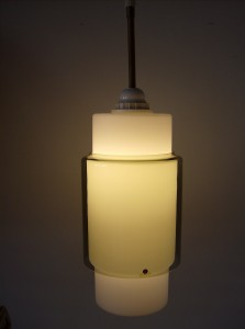 "Spectacular Finnish glass pendant light for Iittala - measures 11""X6"" - (SOLD)"