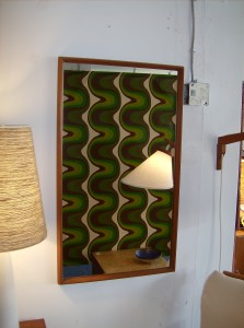 "Striking 1960's Danish teak mirror super high quality -  this beauty measures - 22""X38.5"" - (SOLD)"