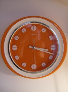 Outrageously cool vintage Seiko wall clock - made in Japan - excellent condition - runs smooth - (SOLD)