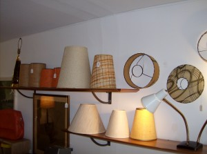 We always have a fabulous selection of Vintage and Retro fiberglass lamp shades - prices range from $15 - $65