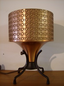 Interesting 1950's uplighter lamp - copper and iron - (SOLD)