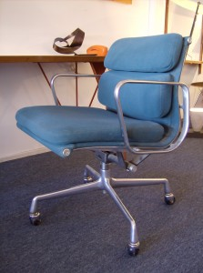 Vintage Eames for Herman Miller Softpad management chair - this version has the tilt mechanism as well as you are able to adjust the height of the seat - nice condition/super comfortable - it is the ultimate office chair - (SOLD)