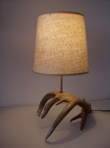 Wonderful Antler table lamp - looks amazing in any Mid-century modern/eco/oh natural organic home - (SOLD)