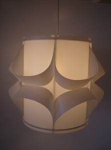 Groovy vintage plastic pendant light - great mood lighting - fantastic design - (SOLD)