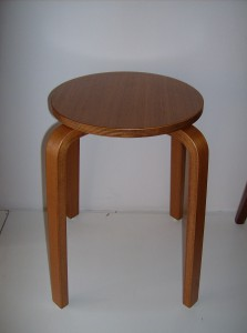 Fabulous vintage bentwood stool made in Denmark - nice condition, really nice patina - perfect for any room in your home - (SOLD)