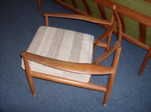 A spectacular Danish teak lounge chair by one of Denmark's great Danish designer's Grete Jalk - the design is absolutely stunning - SOLD