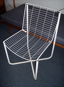 Fantastic set of 4 vintage wire chairs - great for indoor or out - good vintage condition - $300/set