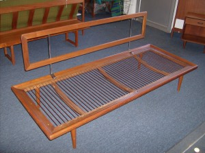 "Spectacular 1950's teak daybed by two of Denmark's prized designer's Peter Hvidt and Orla Molgaard-Nielsen - manufactured by France and Daverkosen - Denmark - sorry no cushions - this fabulous piece measures - 75""Long by 30"" deep - seat height is 12"" back height is 30"" - (SOLD)"