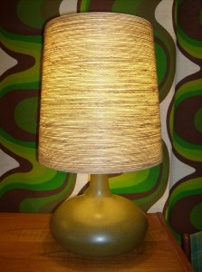 Absolutely stunning Mid-century modern ceramic lamp by designers Lotte and Gunnar Bostlund - (SOLD)