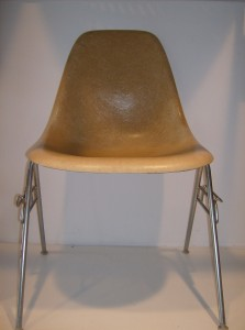 An Original vintage Eames fiberglass side chair for Herman Miller - nice condition -a must have for a Mid-century modern enthusiast - (SOLD)