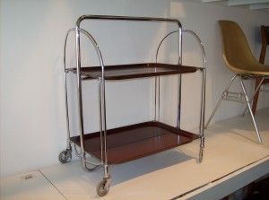 Incredible 1950's 2 tier trolley made in Germany by Gerlinol - super functional and versatile - it can be folded in half or fully - NICE!!! - great condition -(SOLD)