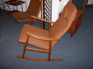 Incredible Mid-century modern teak rocking chair in really excellent condition - perfect for expectant mothers and anyone wanting a super comfortable stylish modern gem - (SOLD)