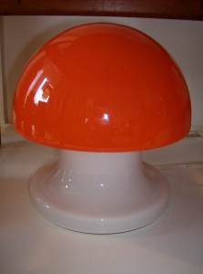 Incredible Italian? all glass mushroom lamp - excellent condition - lovely when lit/or not - (SOLD)
