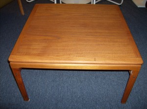 "Beautiful Danish teak coffee table by Trioh - lovely graining and patina - 29.5"" square by 16.5 Height - (SOLD)"