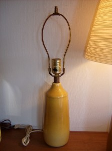 Lovely vintage ceramic lamp base by designers Lotte and Gunnar Bostlund - excellent condition - sorry no shade - (SOLD)