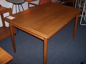 "Fantastic Danish teak dining table w/hidden extendable leaves at either end - excellent condition -beautiful grain - this beauty measures - 48""Lx32""Wx29.5""H add another 18""per leaf - (SOLD)"