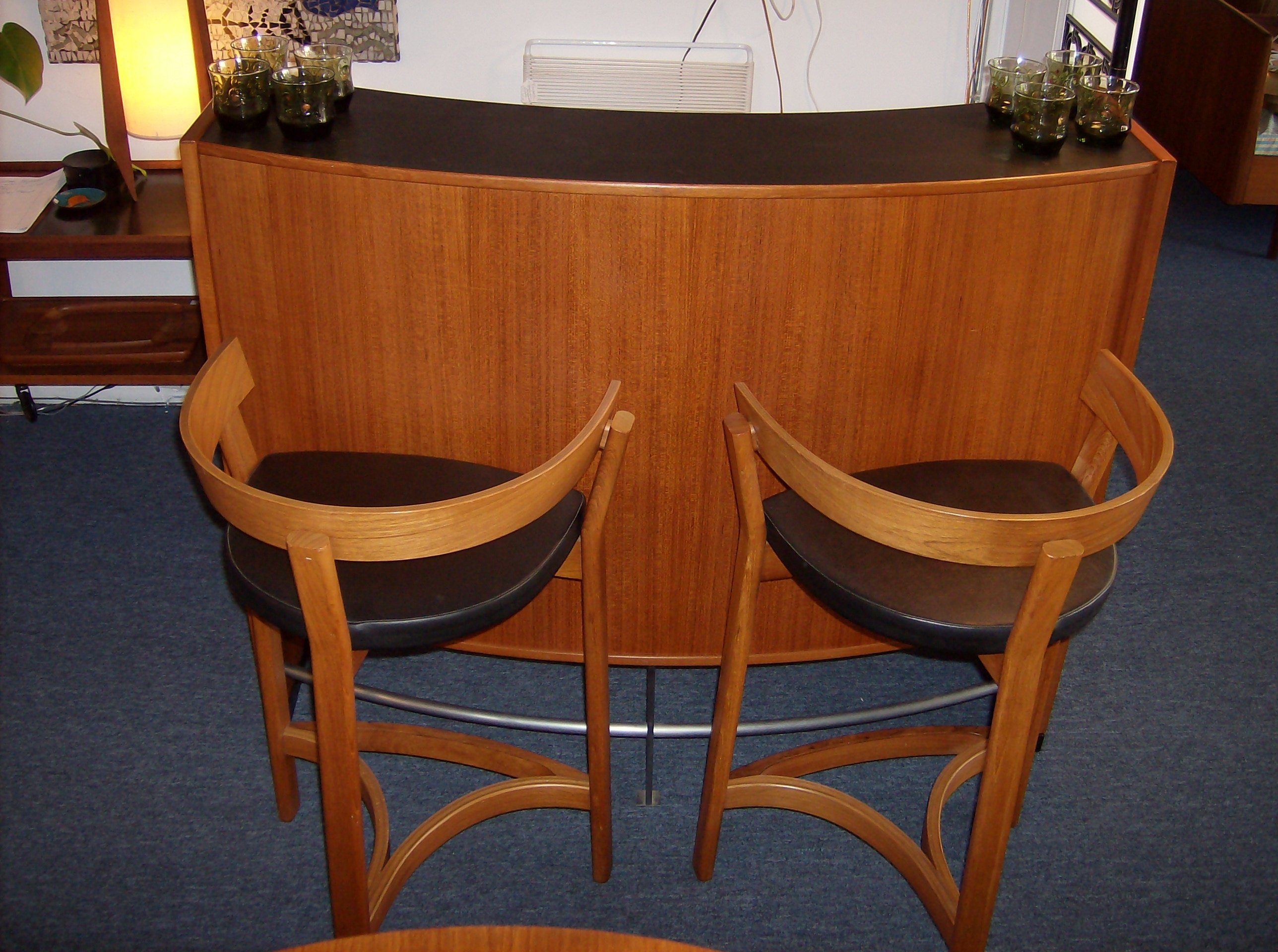 the fabulous find  mid century modern furniture showroom in . incredible midcentury modern teak bar   bar stools  the bar has an