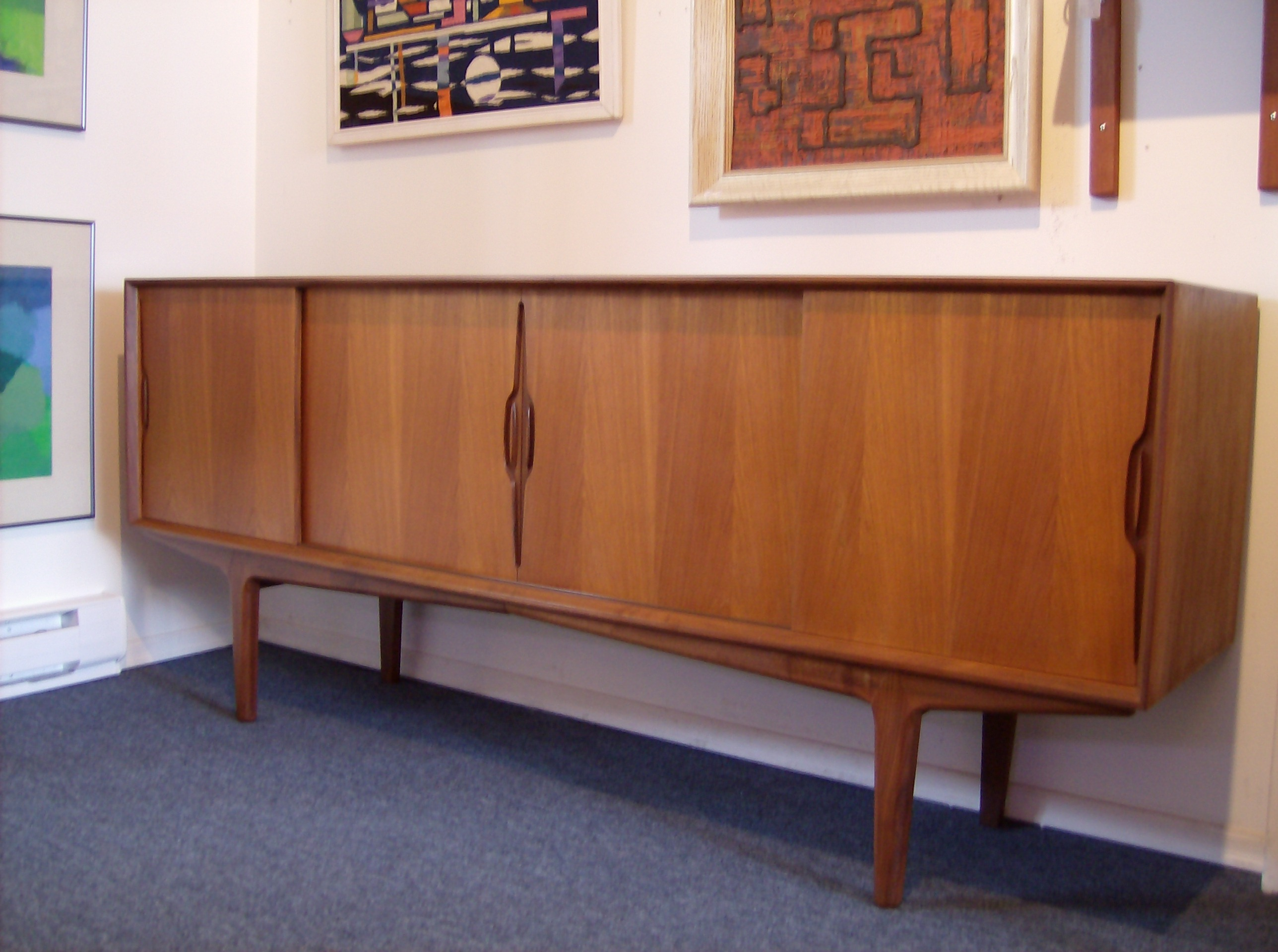 the fabulous find  mid century modern furniture showroom in  - exquisite midcentury modern danish teak credenza  incredibly sculptural every detail is perfection