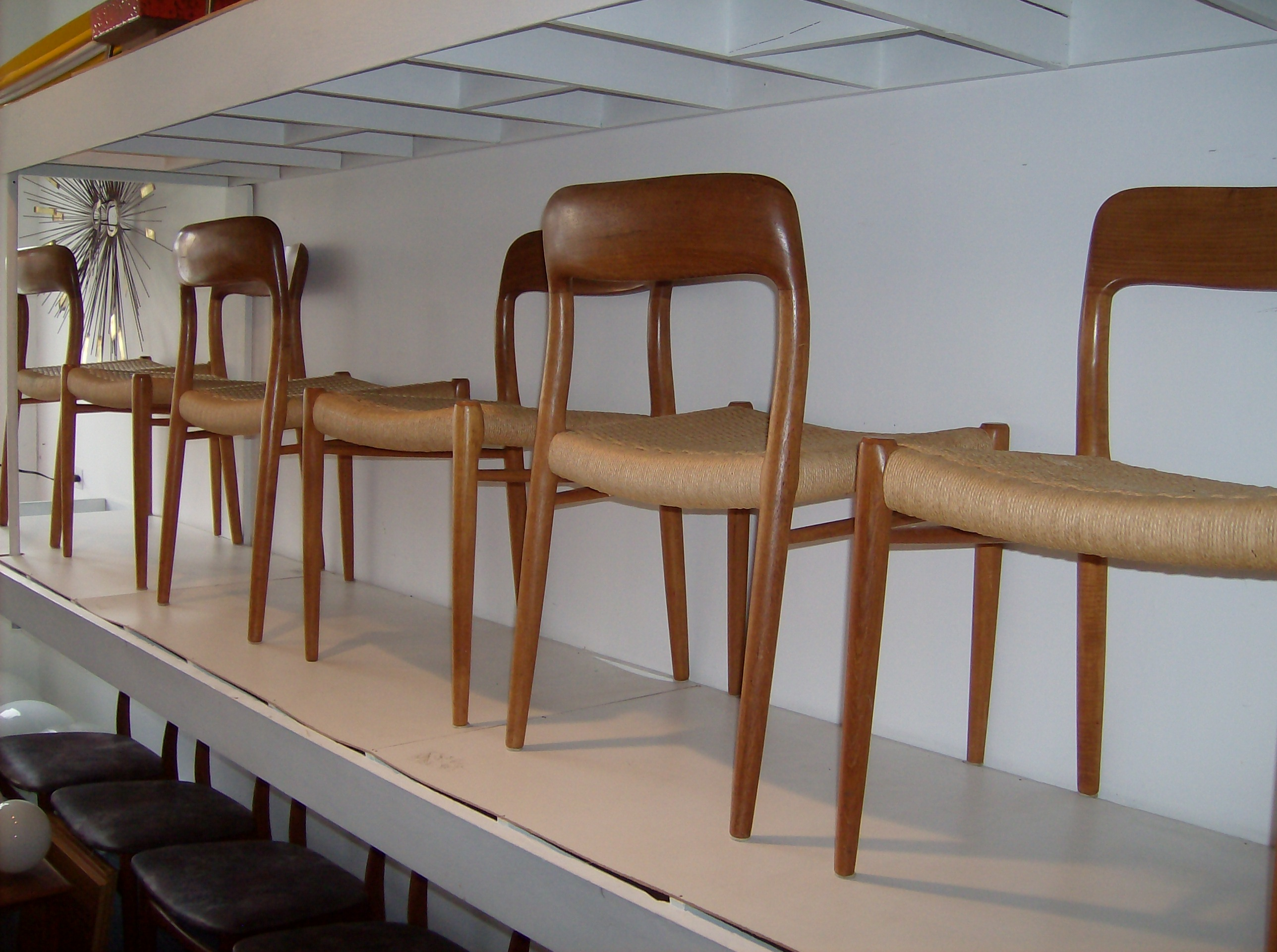 Stunning Set Of Danish Teak Dining Chairs By Designer Niels Moller For  J.L.Moller   Designed