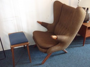 "A Danish classic - Wegner inspired ""Papa Bear"" chair - but a classic in it's own right - designed by Svend Skipper - 1956 - incredibly comfortable - good vintage condition - however the backrest could use a re-foaming, otherwise she's a beauty - chair and otto - (SOLD)"